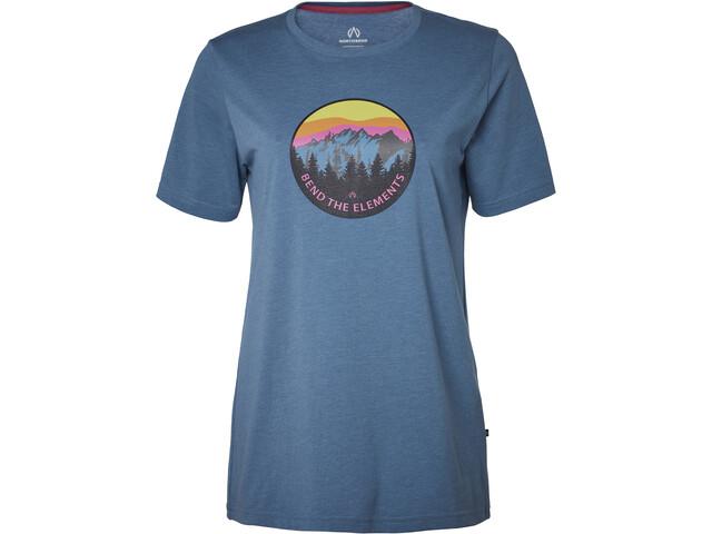 North Bend Vertical T-shirt Femme, blue bay